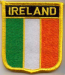 Ireland Embroidered Flag Patch, style 07.